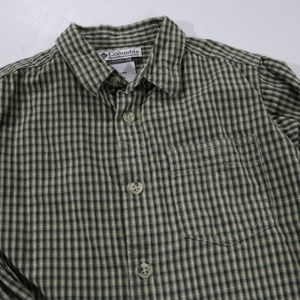 Columbia Shirts & Tops - Green Stripe Long Sleeve Size 5 Dress Shirt Boys